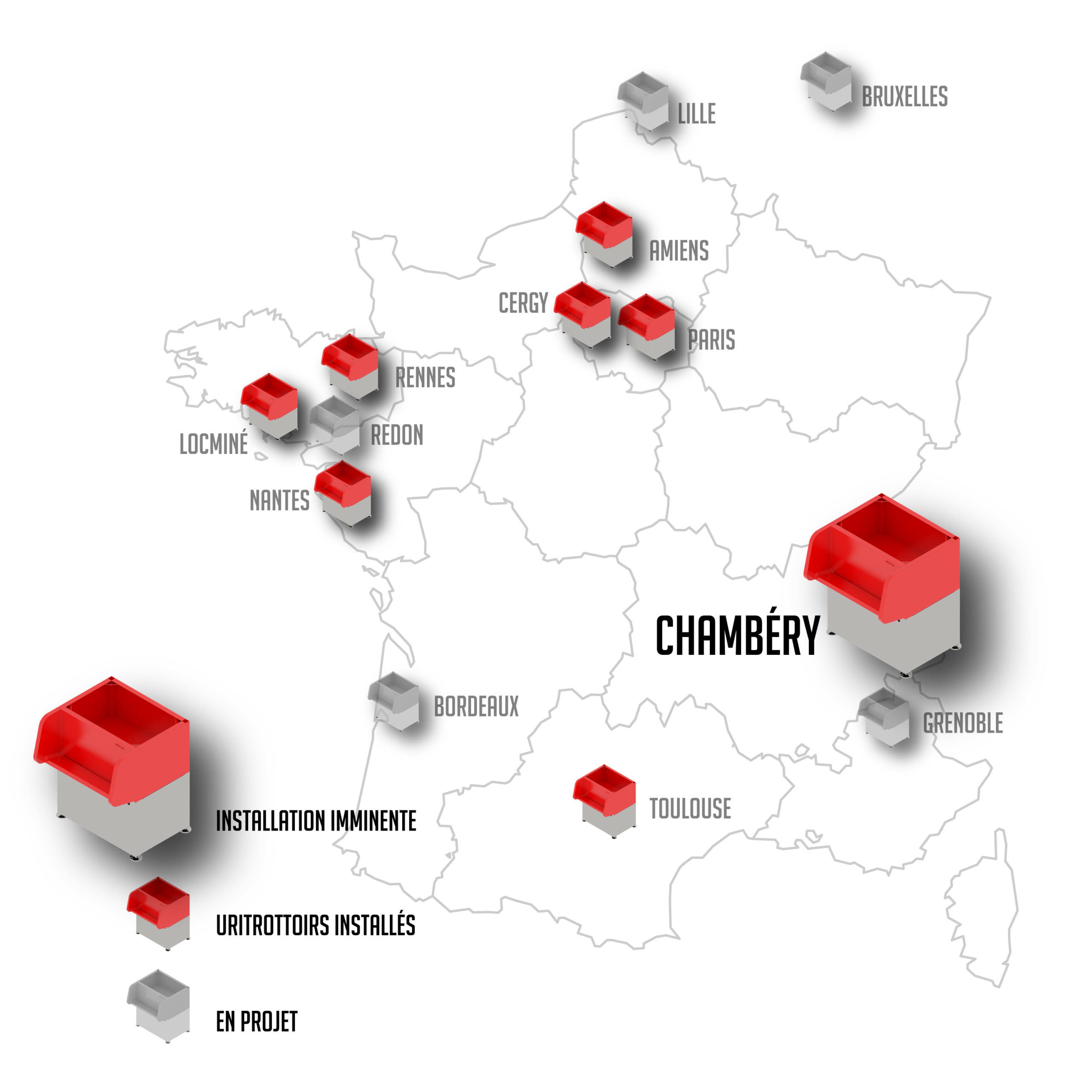 Carte uritrottoir Chambéry